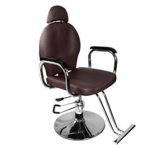 "44""X18"" Recliner Hydraulic Foot Pump Barber Chair Hair Salon Beauty Spa PVC - BRAND NEW - FREE SHIPPING"