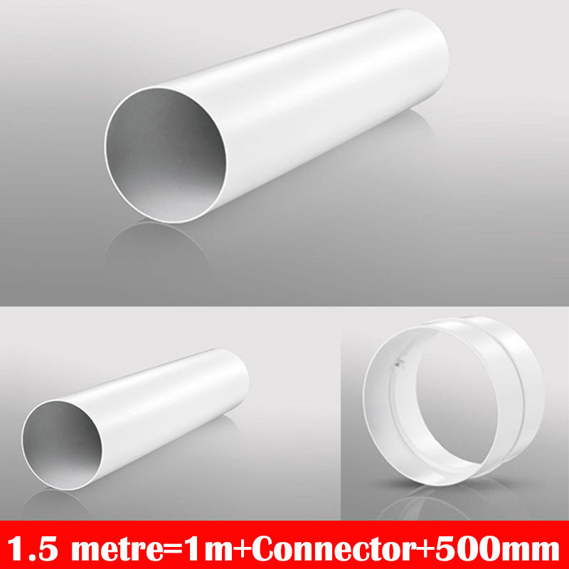 4 100mm plastic ducting fitting bathroom kitchen for Bathroom extractor fan kit