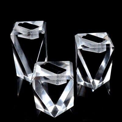 3x Acrylic Ring Display Stand Rack Jewelry Display Holder Showcase Organizer Kit