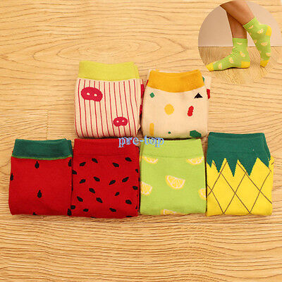 Trendy Socks (New Women Girl Trendy Fruit Cotton Thicken High Quality)
