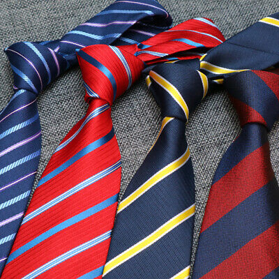 8CM NEW Mens Ties Classic Necktie For Men Stripe Floral Business Tie Accessories