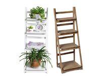 Wood Folding Ladder Plant Flower Pot display Book Shelf Wall Storage Unit Rack H401-4