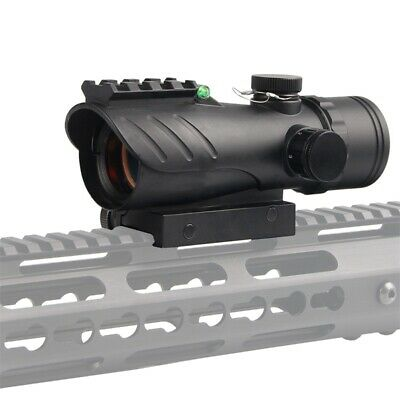 1x30mm ACOG Reflex Red Dot Sight Rifle Scope with Bubble Level 20mm Rail Mount
