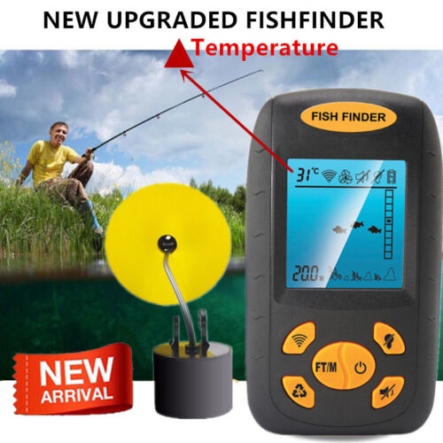 328fts Portable Fish Finder Depth Echo Sonar Alarm Sensor Tr