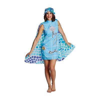 Rub - Damen Kostüm Dusche Kleid Duschhaube Karneval - Dusche Kostüm