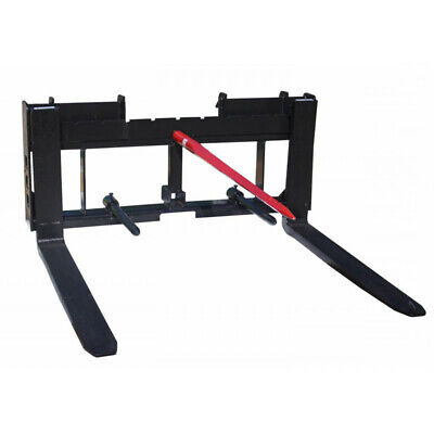 Titan Skid Steer 42 Pallet Fork Attachment And 49 Hay Bale Spear For Tractors