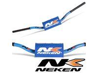 Neken HandleBars Bars Fatbars 28mm Light Blue YZF KXF CRF RMZ KTM 125 250 450