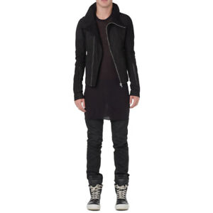 Rick Owens Bauhaus blistered lamb leather jacket