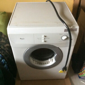 Whirlpool compact stackable front-load washer and dryer