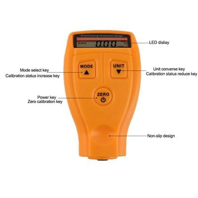 Gm200 Lcd Digital Car Paint Coating Thickness Probe Tester Gauge Meter Meas J7b1