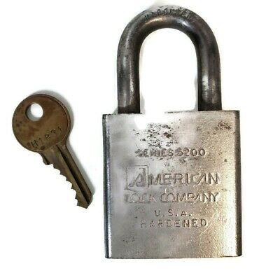 Vintage American Lock Co Padlock Series 5200 Marked Us