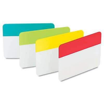 Post-it Tabs File Tabs 2 X 1 12 Aqualimeredyellow 24pack 051141921419