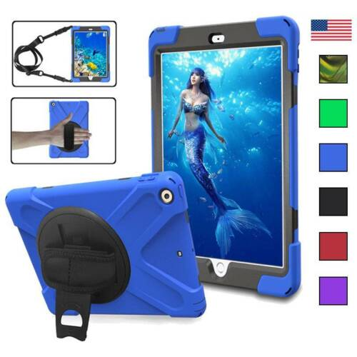 Kids Rugged Protection Stand Hard Case Cover For Apple iPad