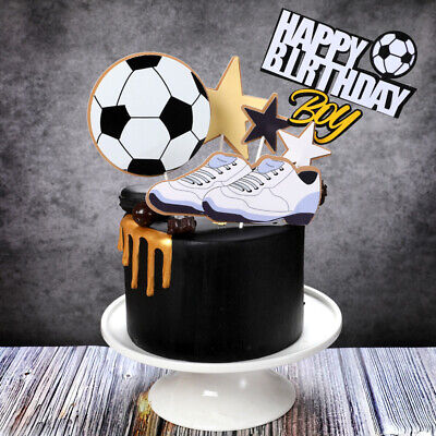 Happy Birthday Fußball Torten Stecker Set Cake Topper Geburtstag Kuchen Deko