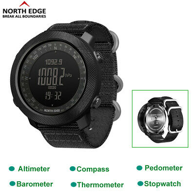 NORTH EDGE Military Army Sports Watch Altimeter Compass Swimming Smartwatch Gift