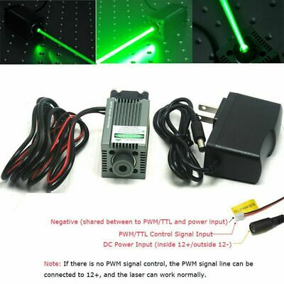 520nm 1w Focusable Green Laser Dot Module Engraving And Cutting Ttl W12v Adapter