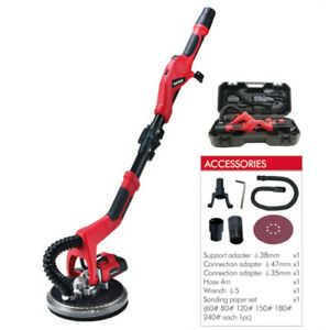 Electric drywall sander with 10W LED lights