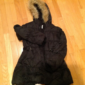Like New Black Children's Place Winter Dress Coat size 10/12