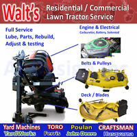Ride on Lawn Tractor Service Center Toronto - Markham - Vaughan