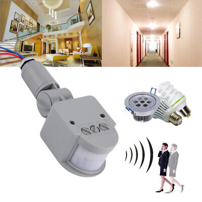 - Outdoor 180° Degree Security PIR Motion Movement Sensor Detector Switch 110-240V