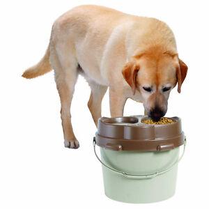 Omega Paw Big Dog Lunch Box Double Bowl Raised Portable Feeder