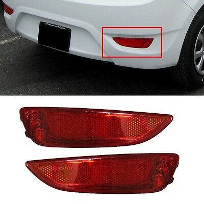 Rear Bumper Reflector Left Right 2P OEM For Hyundai Accent Hatchback 2012-2015