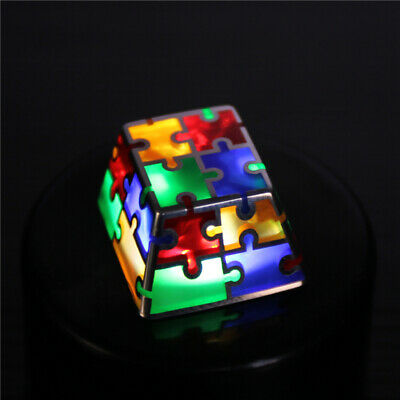 Puzzle Color Enamel Keycap Sterling Silver Handmade For Cherry Switch Keyboard -