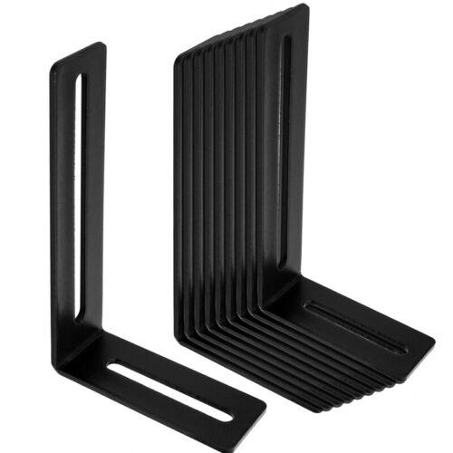 "10 Packs Black Slot L-Shape Corner Brace Steel Joint Right Angle Bracket 5.6"""