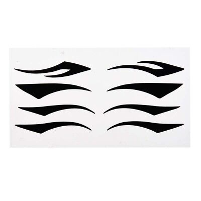 Schwarz D-1 Eyeliner (Komfortable schwarzen Eyeliner Tattoo-Aufkleber Augenlid Aufkleber N1D1)