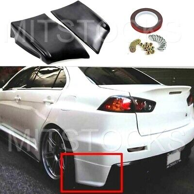 FITS 08-15 Lancer Evolution X EVO 10 ADD-ON REAR SIDE LIP APRONS VALENCES 2 PC for sale  USA