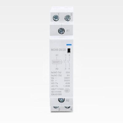 1PCS Domestic Mini-type AC Contactor 220V/230V 20A 50/60HZ DIN-Rail Mounting