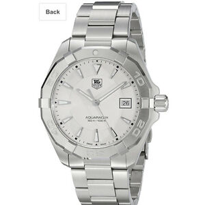 Brand New: TAG HEUER Aquaracer Silver Stainless Steel Mens Watch