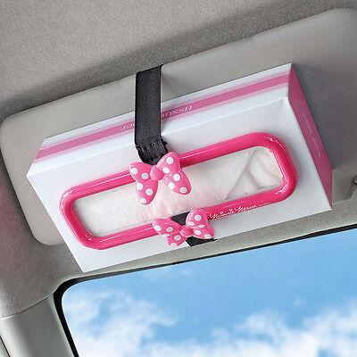 DISNEY Minnie Mouse Sun Visor & Headrest Tissue Box Holder Car Accessories Pink - Disney Car Accessories