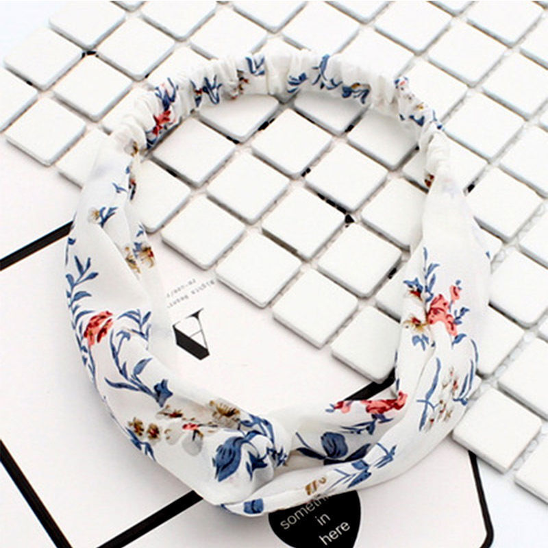 New Women Lovely Yoga Elastic Floral Hair Band Headband Turban Twisted Knotted