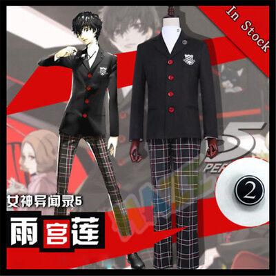 Persona 5 Joker Ren Amamiya Akira Kurusu Schuluniform Cosplay Kostüm Komplettset (Joker Cosplay Kostüm)