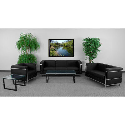 HERCULES Regal Series Reception Set in Black - ZB-REGAL-810-SET-BK-GG