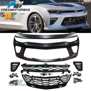 Fits 16-18 Chevy Camaro SS 50th Anniversary Front Bumper Conversion  PP With DRL