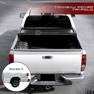 For 1994-2003 Chevy S10 Pickup/GMC Sonoma 6 Ft Bed Tri-Fold Soft Tonneau (Bed Extended Cab Pickup)