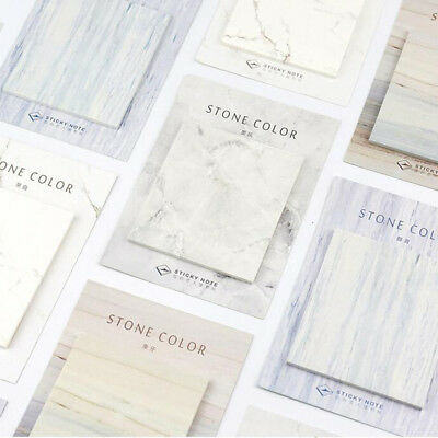 2pcslot Marble Stone Color Sticky Note Memo Pad Planner Stickers Stationery