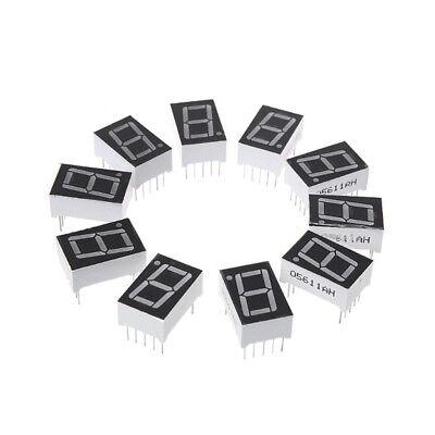 10pcs 0.56 Inch 7 Segment 1 Digital Led Display Red Common Cathode Digital Tubes