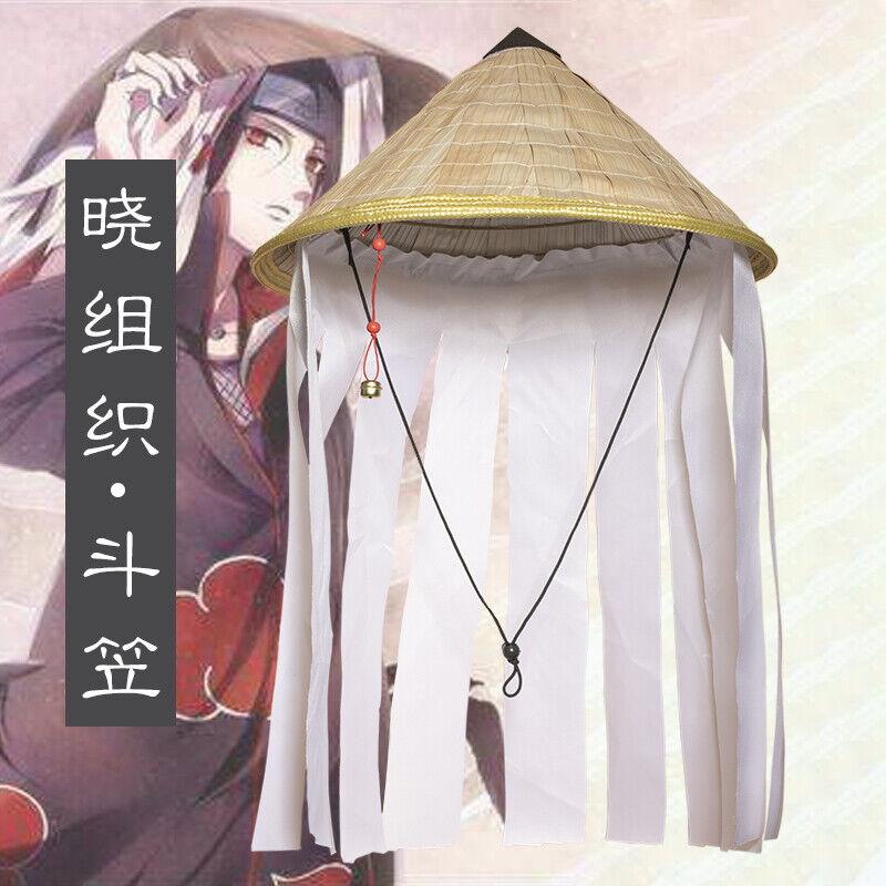 Anime NARUTO Akatsuki Cos Uchiha Itachi Rain Hat Leaf Hat Cosplay Prop Costume
