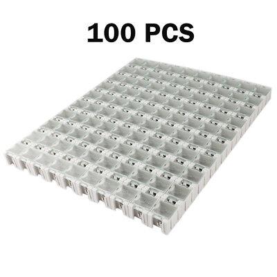 100pcslot White Kit Components Boxes Patch Laboratory Storage Box Smt Smd Kits