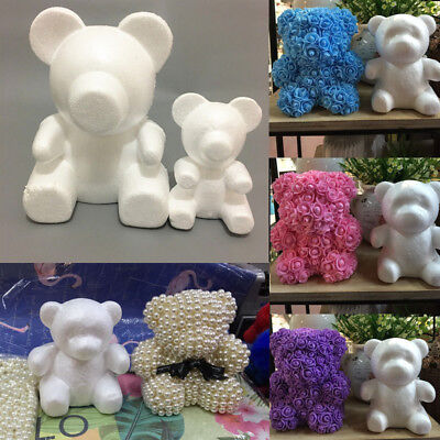 2 Size Modelling Polystyrene Styrofoam Foam Bear Craft Balls For Christmas Decor (Bear Balls)