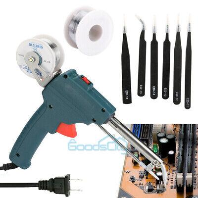 60w Electric Soldering Iron Gun With Solder Wire Tin 50g 60w Tweezer
