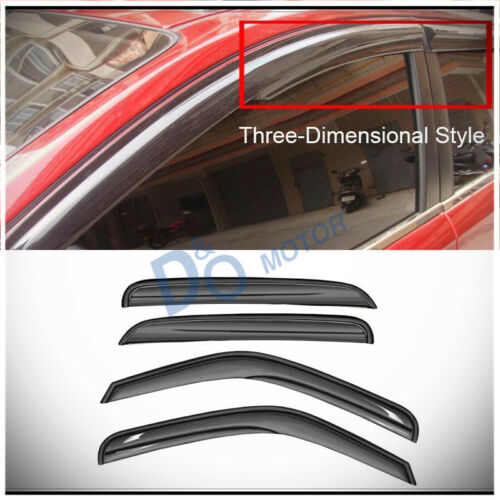 4Pcs 3D Wave Look Shade Window Vent Visors For Chevy/GMC/Cadillac SUV/Crew Cab