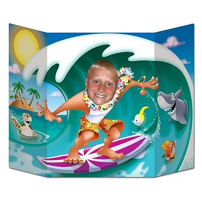 Surfer Dude Photo Prop - 94 x 64 cm - Hawaiian Surfs Up Party Cutouts & Standin - Hawaiian Photo Cutouts