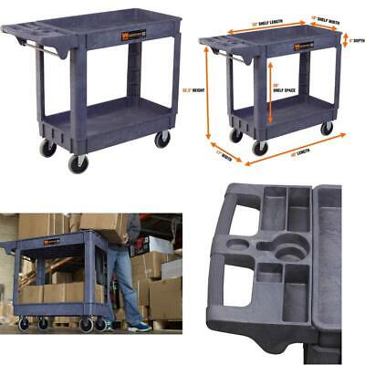 Utility Carts With Wheels 500 Pound Capacity 40x17 Inch Service Rolling Shop