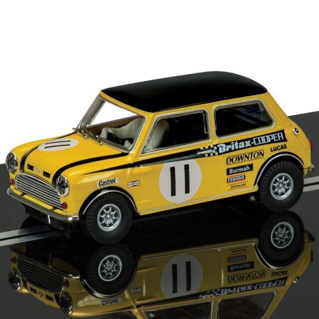 C3640 Scalextric Slot Car Mini Cooper S BRITAX - Steve Neal #11 Silverstone 1969