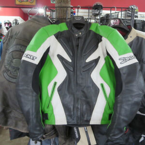 Joe Rocket Ninja Green Leather Motorcycle Jacket Re-Gear