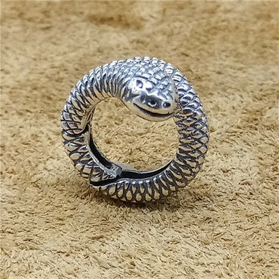 - Sterling Silver Snake Lobster Clasp 925 Silver Animal Connector for Bracelet